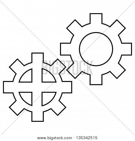 wheel industry icon on flat style design