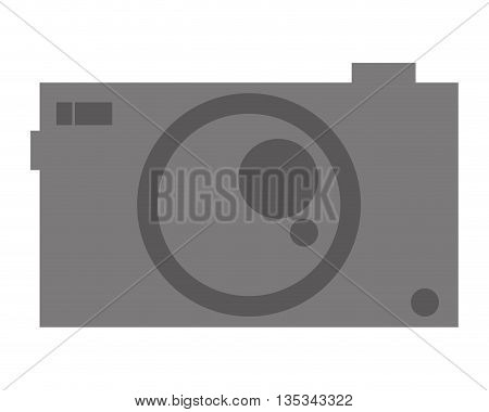 icon of camera photo on flat style, vector design