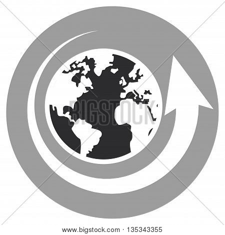 world map icon design with arrow, vector