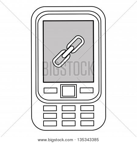 Mobile phone icon, technology concept, vector illustration