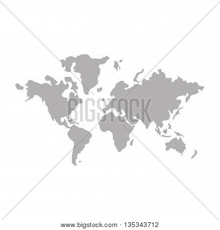 icon of world map on flat style, vector design