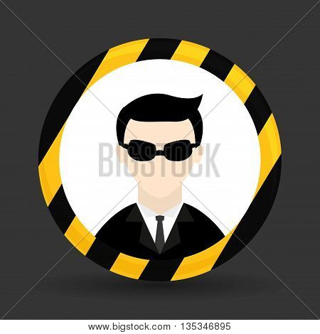 Security system design over gray background , vector illustration.