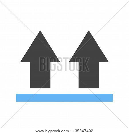 Arrow, up, direction icon vector image. Can also be used for logistics. Suitable for mobile apps, web apps and print media.