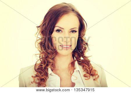 Happy confident businesswoman.