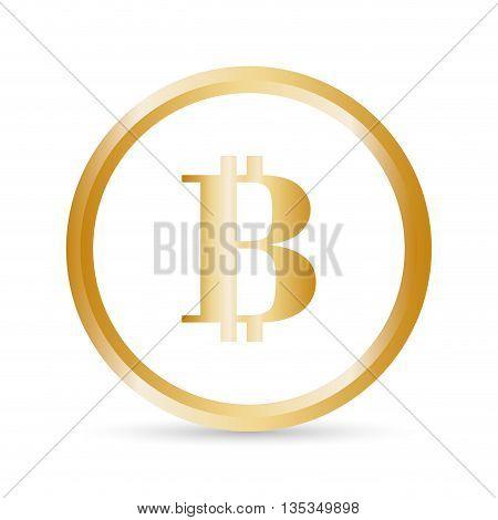 Bitcoin design over white background, vector illustration.
