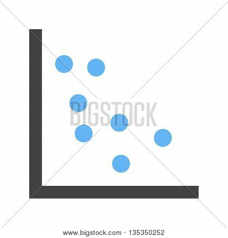 Statistics, function, dotted icon vector image. Can also be used for infographics. Suitable for use on web apps, mobile apps and print media.