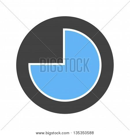 Pie, chart, graph icon vector image. Can also be used for infographics. Suitable for use on web apps, mobile apps and print media.