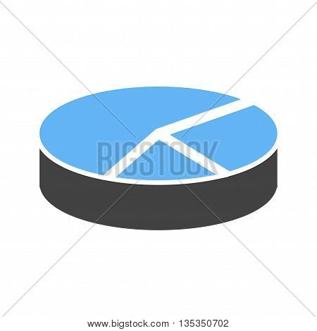 Chart, pie, 3D icon vector image. Can also be used for infographics. Suitable for use on web apps, mobile apps and print media.