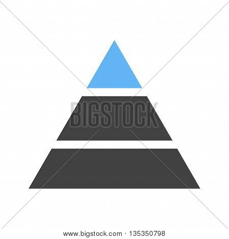 Pyramid, chart, diagram icon vector image. Can also be used for infographics. Suitable for web apps, mobile apps and print media.