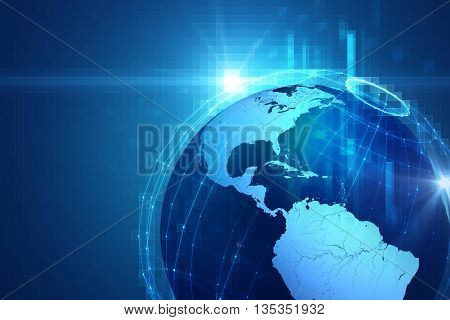 Earth Futuristic Technology Abstract Background Illustration