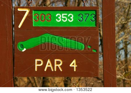 Golf Course Hole Information Sign