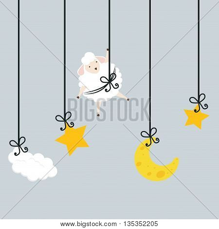 Sleep design over gray background, vector illustration.