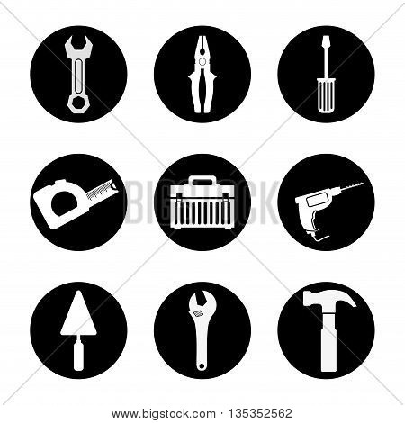 Tools design over white background, vector illustration.