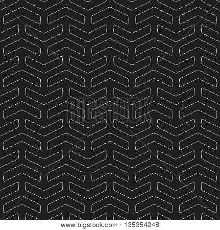 Geometric vector pattern with dotted elements. Seamless abstract background. Black and white pattern