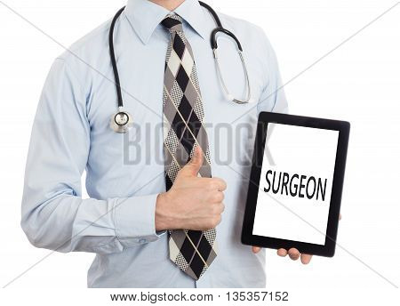 Doctor Holding Tablet - Surgeon