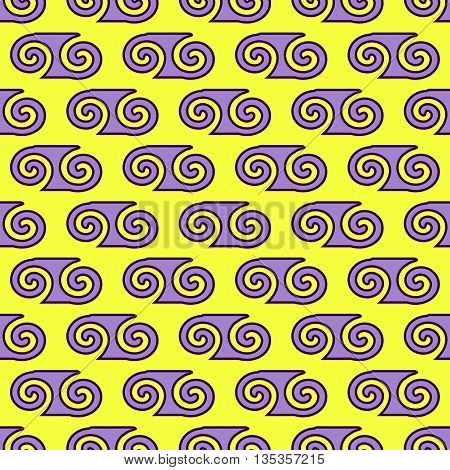 Spiral geometric seamless pattern. Fashion graphic background design. Modern geometric stylish abstract texture. Colorful template 4 prints textiles wrappingwallpaper website. VECTOR illustration