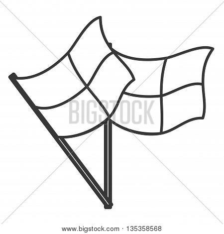 simple black line football referee flags vector illustration