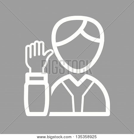 Election, candidate, presidential icon vector image. Can also be used for elections. Suitable for use on web apps, mobile apps and print media.