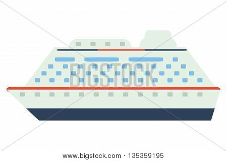 colorful cruiseship icon vector illustration flat style design