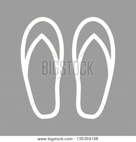 Slippers, pair, home icon vector image. Can also be used for spa. Suitable for web apps, mobile apps and print media.