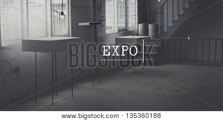 Expo Advertising Room Interior Event Concept