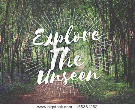 Explore the Unseen Journey Trip Destination Traveling Adventure Concept
