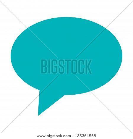 simple blue conversation bubble icon vector illustration