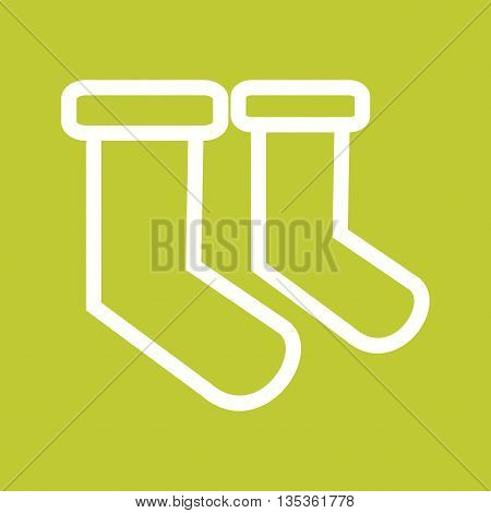 Christmas, stocking, sock icon vector image. Can also be used for celebrations. Suitable for web apps, mobile apps and print media.