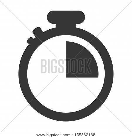 simple grey classic chronometer icon vector illustration