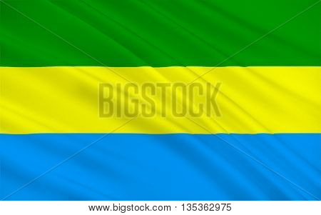 Flag of Bandung is the capital of West Java province in Indonesia and Indonesia's third largest city. 3D illustration