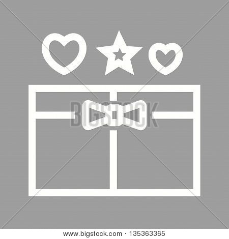 Gift, box, present icon vector image. Can also be used for celebrations. Suitable for web apps, mobile apps and print media.