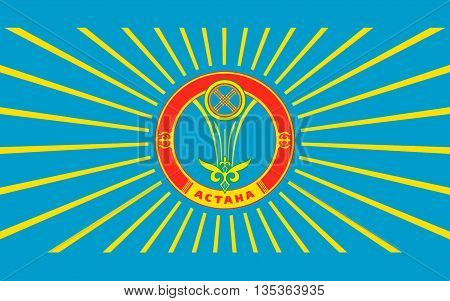 Flag of Astana is the capital of Kazakhstan