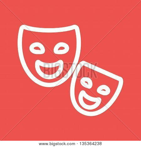 Mask, concert, party icon vector image.Can also be used for celebrations. Suitable for use on web apps, mobile apps and print media.