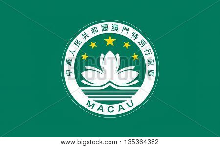 Flag of Macau also spelled Macao officially known as the Macau Special Administrative Region of the Peoples Republic of China.