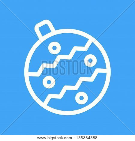Christmas, ball, decoration icon vector image.Can also be used for celebrations. Suitable for use on web apps, mobile apps and print media.