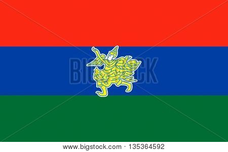 Flag of Kayah State is a state of Myanmar.