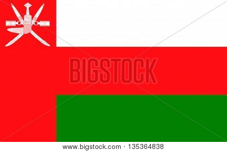 Flag of Oman officially the Sultanate of Oman is an Arab country in the southeastern coast of the Arabian Peninsula.