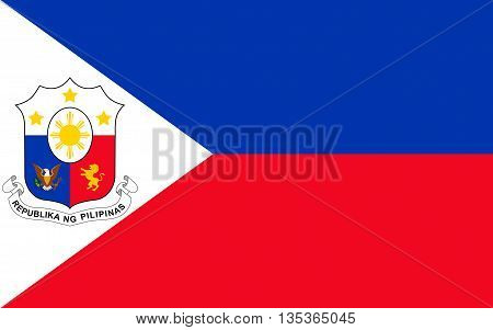 Flag of Philippines officially known as the Republic of the Philippines is a sovereign island country in Southeast Asia situated in the western Pacific Ocean.