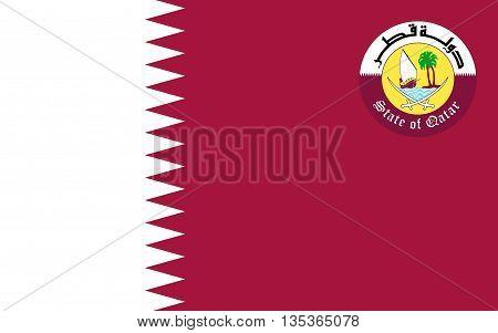 Flag of Qatar officially the State of Qatar is a sovereign country located in Southwest Asia occupying the small Qatar Peninsula on the northeastern coast of the Arabian Peninsula.