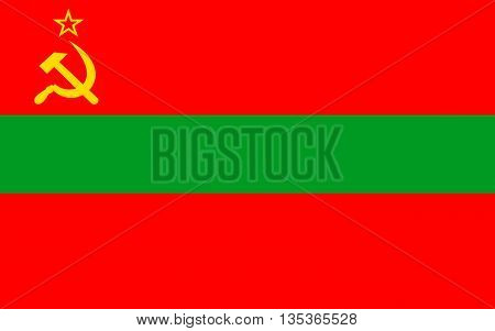 Flag of Transnistria is a partially recognized state located mostly on a strip of land between the River Dniester and the eastern Moldovan.