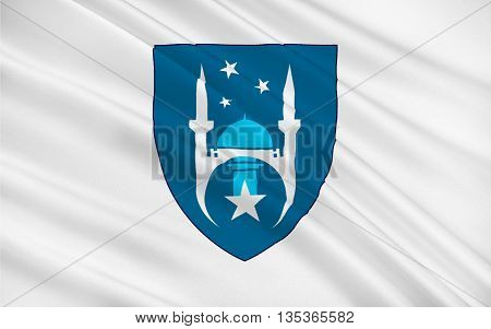 Flag of Ankara formerly known as Ancyra and Angora is the capital of the Republic of Turkey. 3D illustration