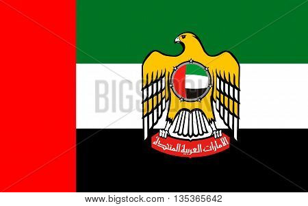 Flag of United Arab Emirates sometimes simply called the Emirates or the UAE is a country located at the southeast end of the Arabian Peninsula on the Persian Gulf.