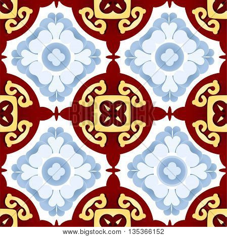 Beautiful seamless ornament. Vintage decorative elements. Islam Indian. Ceramic tile. Set of beautiful ethnic oriental ornaments. Abstract background. Kaleidoscope.