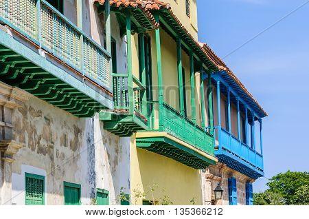 Colorful Balconies, La Habana Vieja, Cuba