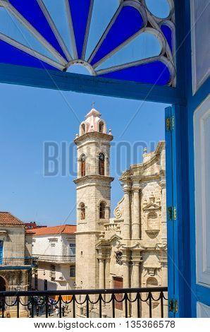 Cathedral Tower In La Habana Vieja, Cuba