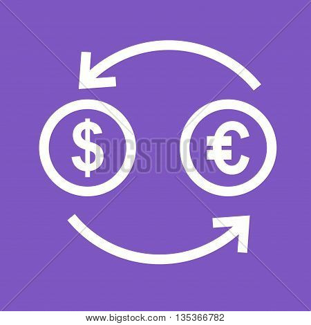Currency, exchange, finance icon vector image. Can also be used for finances trade. Suitable for use on web apps, mobile apps and print media.