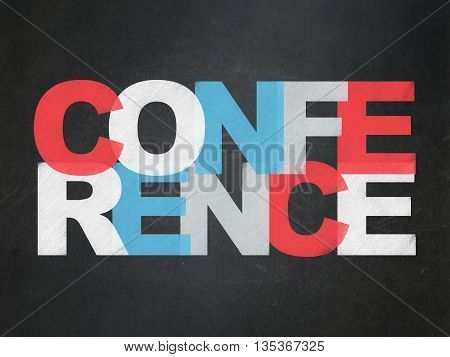 Business concept: Painted multicolor text Conference on School board background, School Board