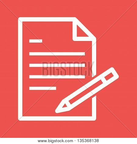 Writing, report, business icon vector image. Can also be used for employment. Suitable for mobile apps, web apps and print media.