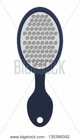 simple blue hairbrush with long handle vector illustration