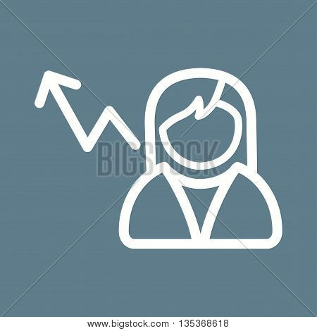 Interview, rated, position icon vector image. Can also be used for employment. Suitable for use on web apps, mobile apps and print media.